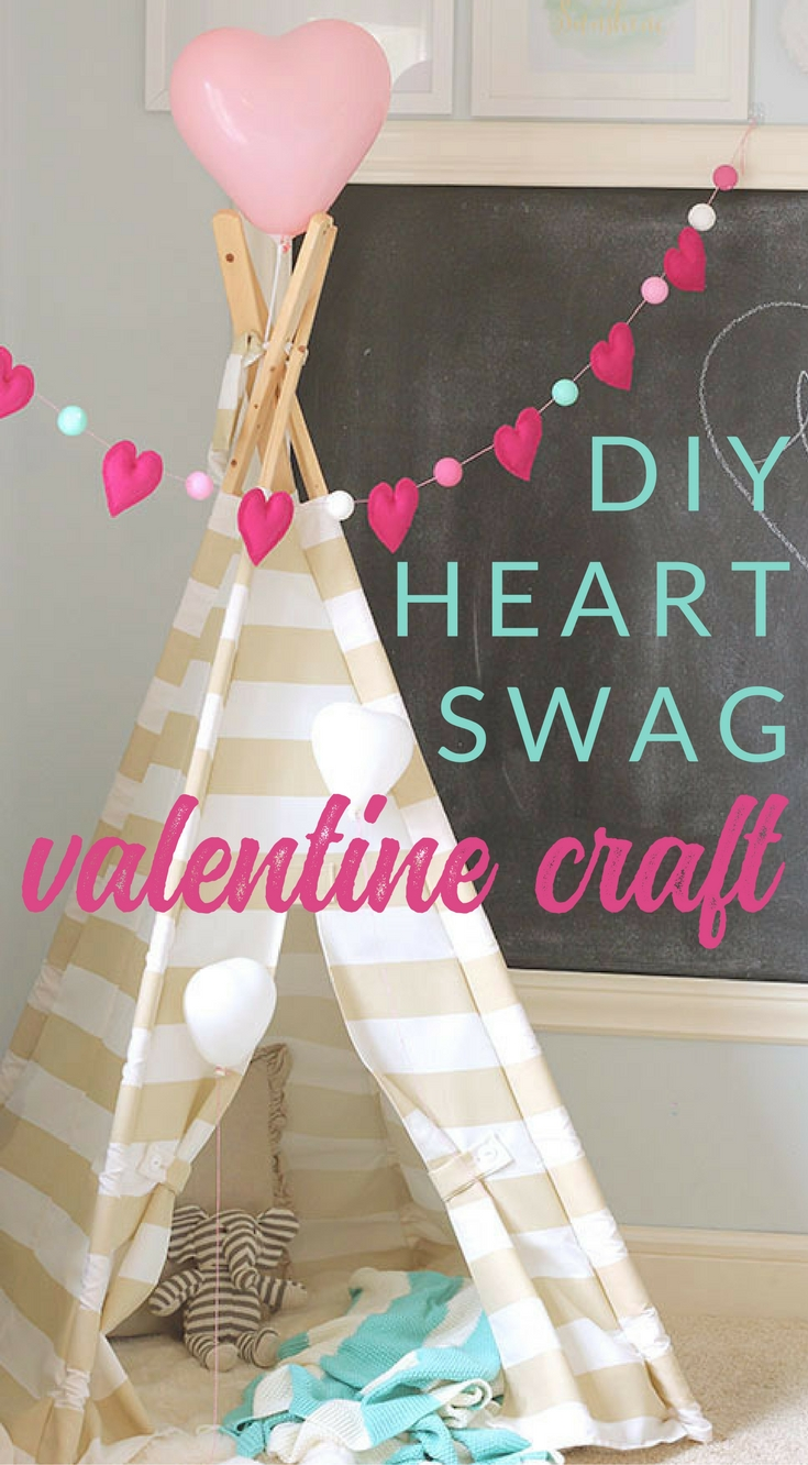 Spread the love with this easy and colorful DIY Heart Garland for Valentine's Day. It's a sweet little way to show a little love in your home!