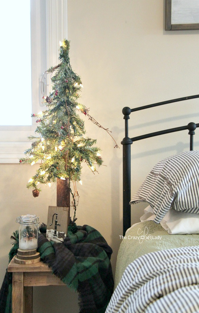 DIY Christmas Tree Skirt Ideas: Come tour this cozy farmhouse style bedroom filled with plenty of winter bedroom decor inspiration. How to decorate after the holidays with neutral tones, DIY decor, and budget-friendly buys.