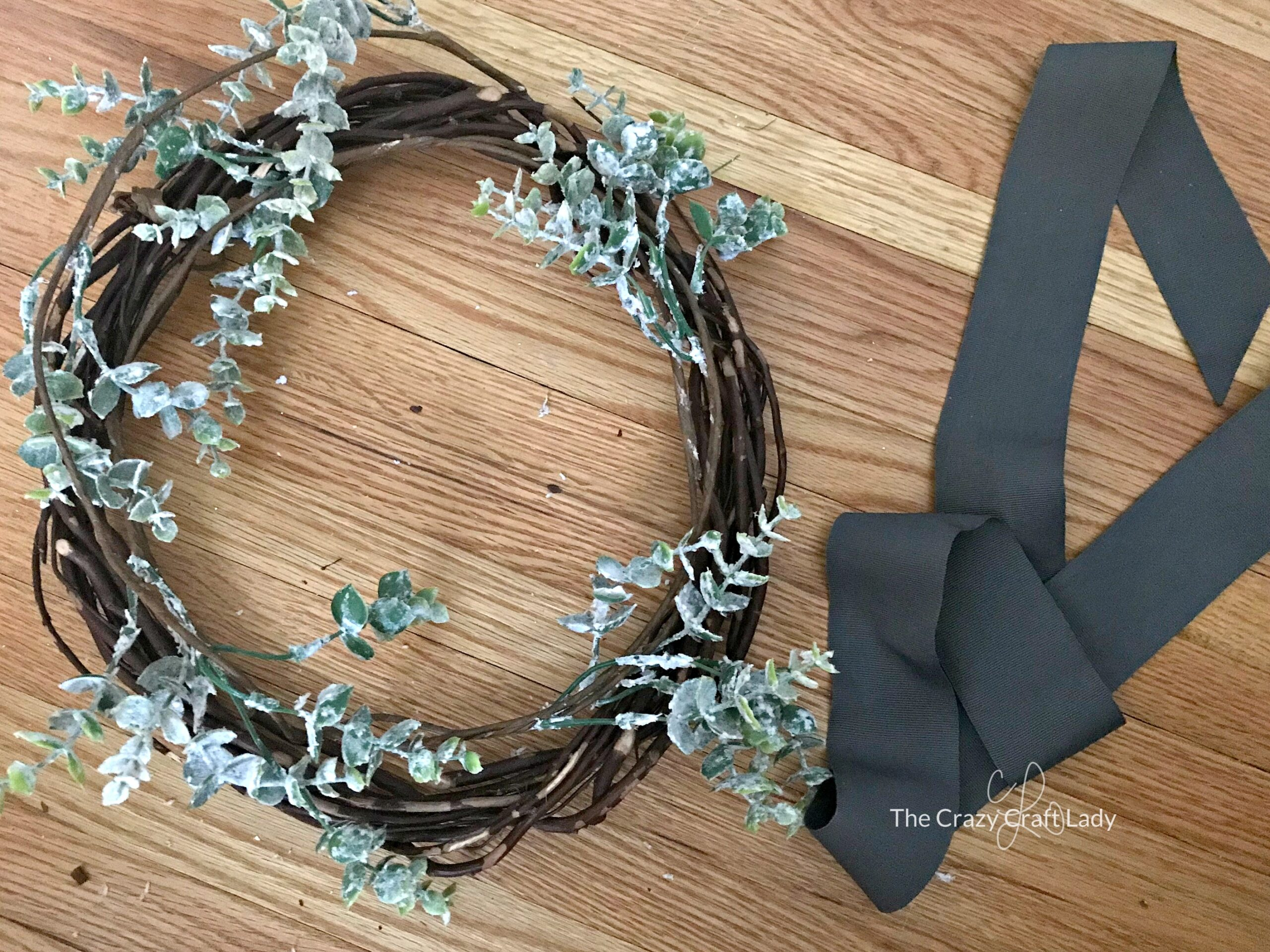 How to make a simple winter wreath with dollar store supplies