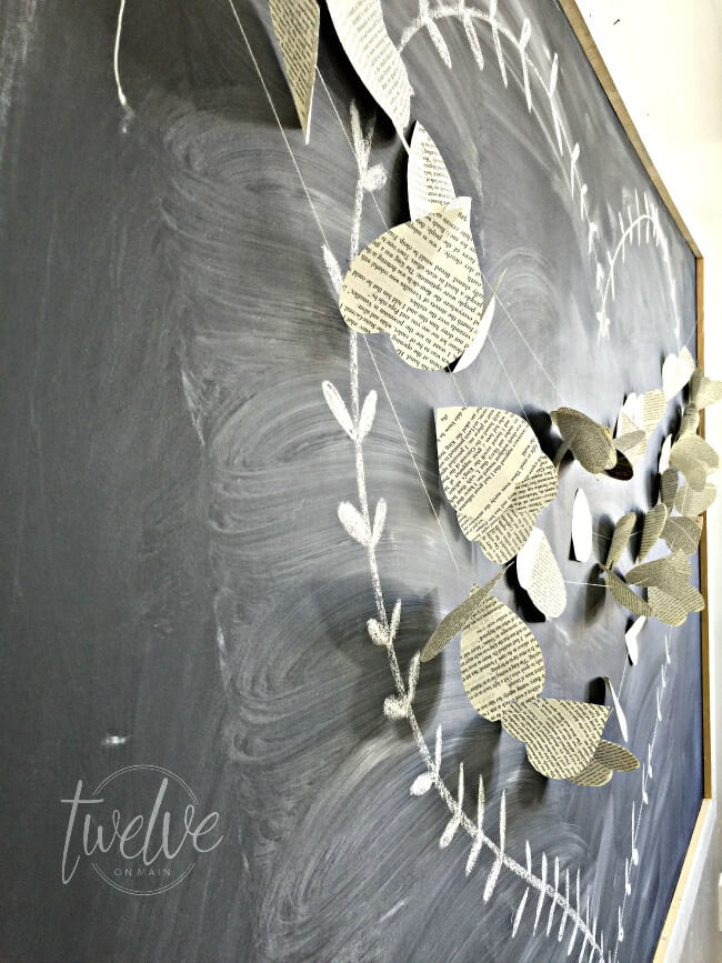 Book Page Heart Garland - Make your own gorgeous Valentine's Day decor with these 19 DIY heart decorations. These awesome Valentine tutorials provide plenty of decor inspiration.