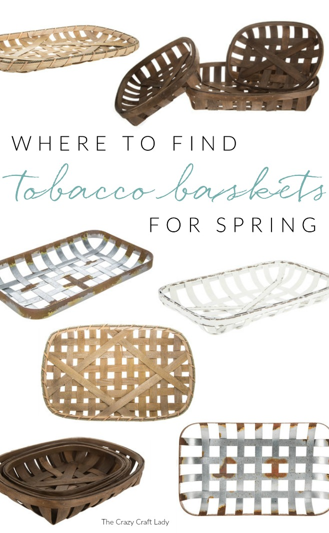 Where to find the best selection of affordable tobacco baskets for spring