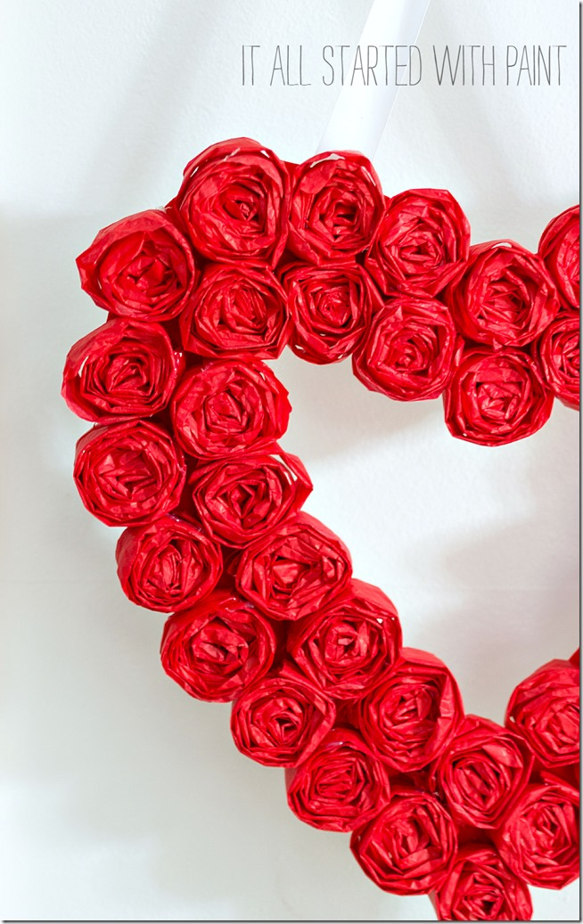 Tissue Paper Heart - Make your own gorgeous Valentine's Day decor with these 19 DIY heart decorations. These awesome Valentine tutorials provide plenty of decor inspiration.