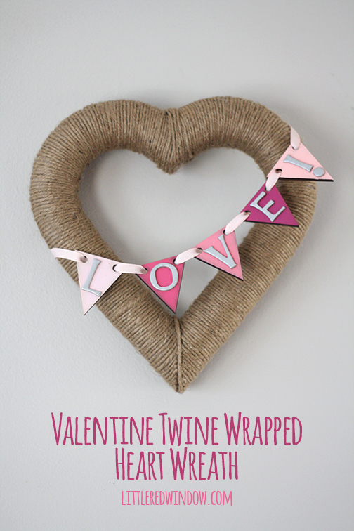 Twine Heart Wreath - Make your own gorgeous Valentine's Day decor with these 19 DIY heart decorations. These awesome Valentine tutorials provide plenty of decor inspiration.