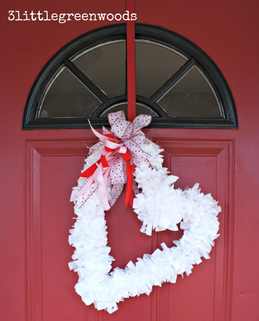 Trash Bag Heart Wreath - Make your own gorgeous Valentine's Day decor with these 19 DIY heart decorations. These awesome Valentine tutorials provide plenty of decor inspiration.