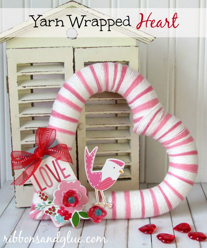 Yarn Wrapped Heart - Make your own gorgeous Valentine's Day decor with these 19 DIY heart decorations. These awesome Valentine tutorials provide plenty of decor inspiration.