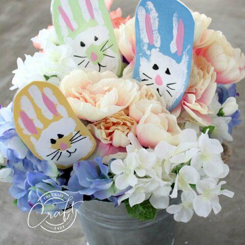 Bunny Handprints Easter Craft For Kids