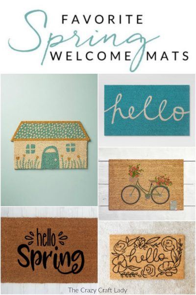 Shop these gorgeous spring welcome mats – these colorful buys are the easiest way to change up your home decor for spring. Welcome visitors to your home with a cheery spring outdoor doormat.