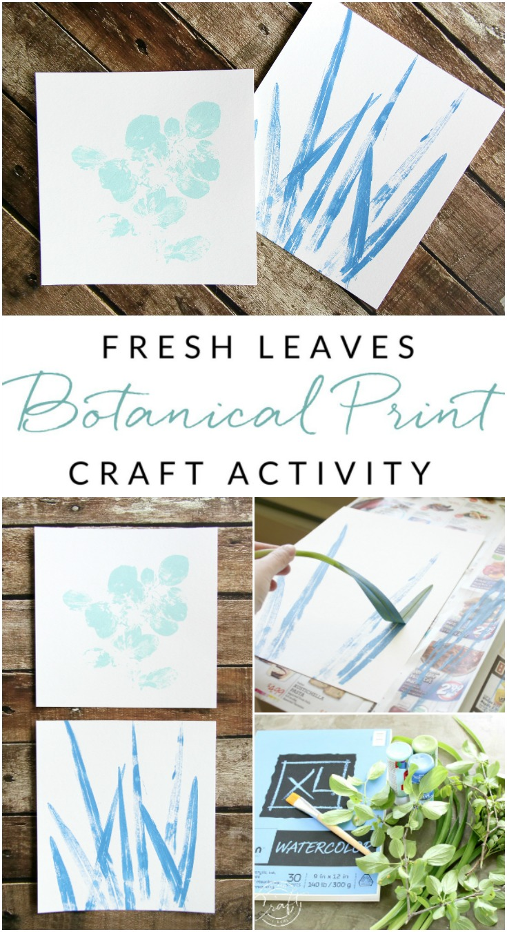 Make your own painted botanical prints with this leaf painting craft activity. Cut a few fresh leaves and let the kids create their own nature-inspired artwork!