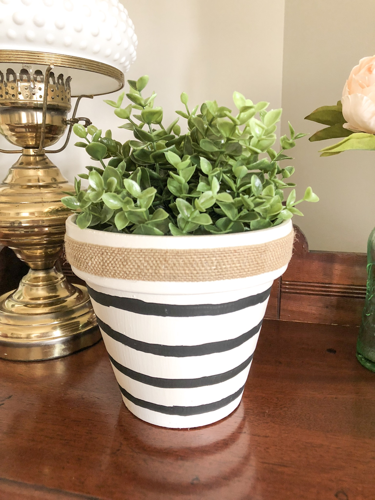 painted makeover dollar store planter
