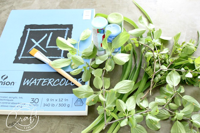 Leaf Painting Craft - How to Make Painted Botanical Prints