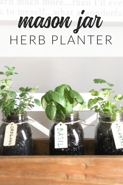 I've got a fun little project that you can do in no time and it's perfect for spring! This DIY Herb Garden is simple and quick, plus you'll have your very own herbs for cooking.