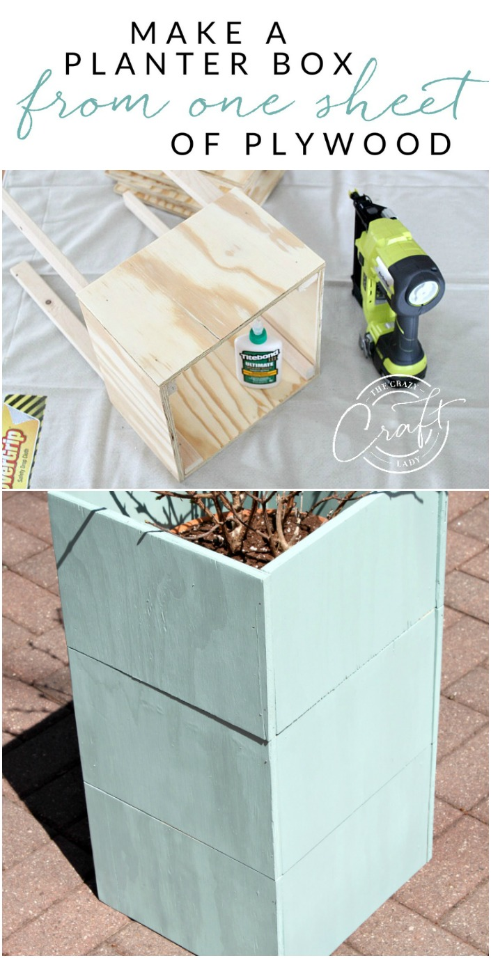 How to build an inexpensive plywood planter box