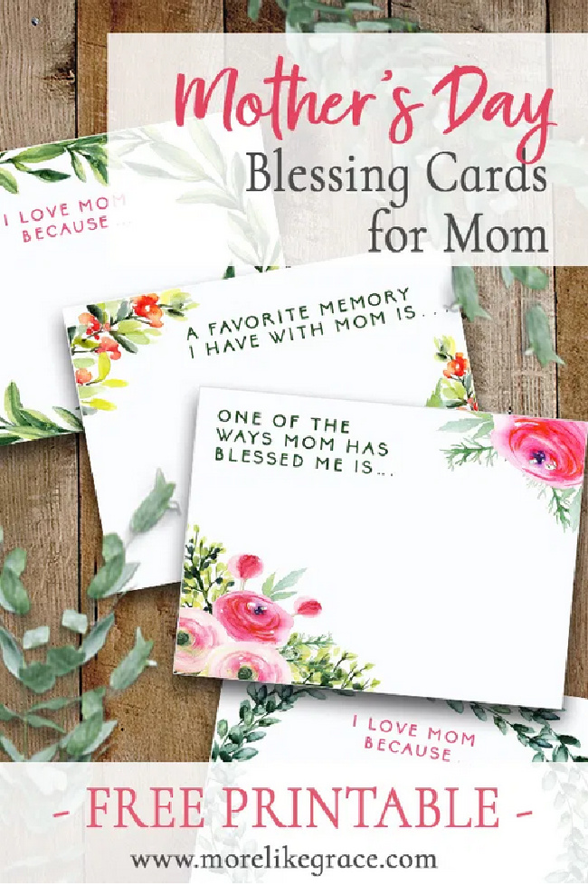 Mothers Day Blessing Cards for Mom