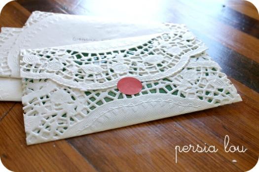 make a diy paper doily envelope
