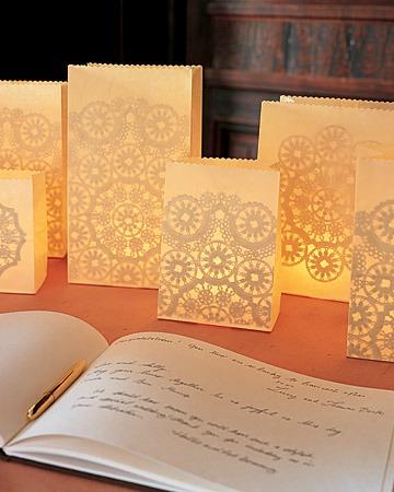 doily paper luminaries