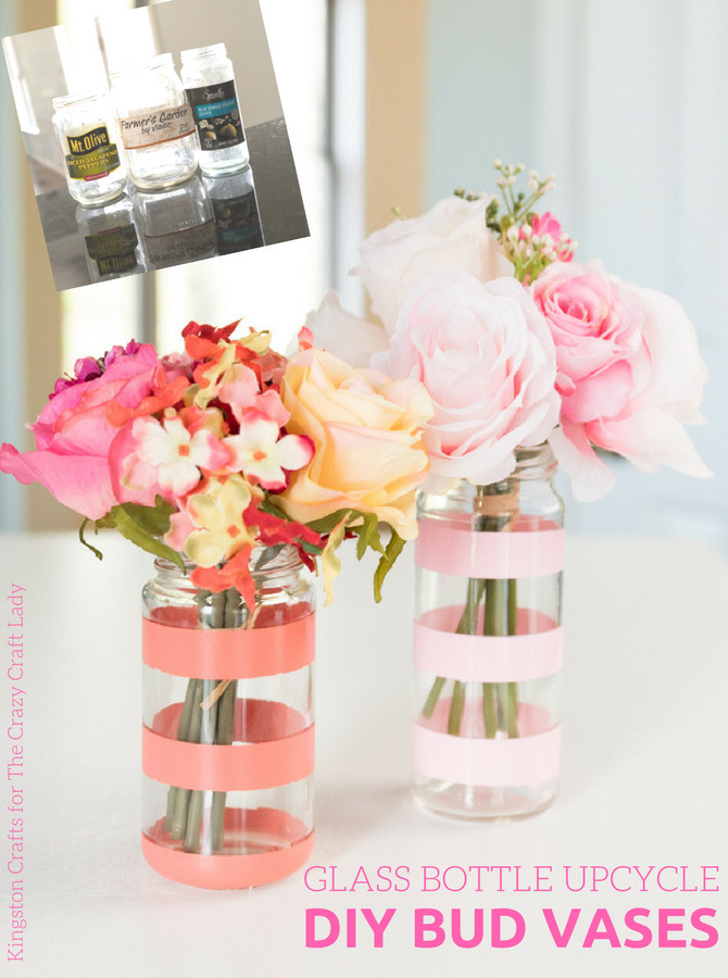Spring has sprung! Looking for a fun project to do with the kids that celebrates the season? Create your own bud vases with a little spray paint and this glass bottle upcycle project.