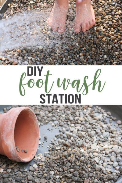diy foot wash station