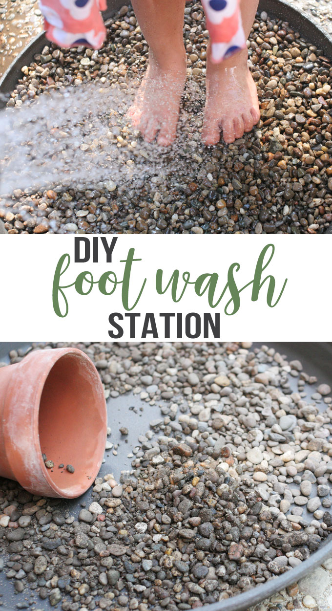 diy foot wash station