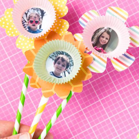 Easy Kids Craft Paper Flower Bouquet