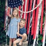 DIY American Flag Backdrop - Take the Cutest 4th of July Pictures Ever!