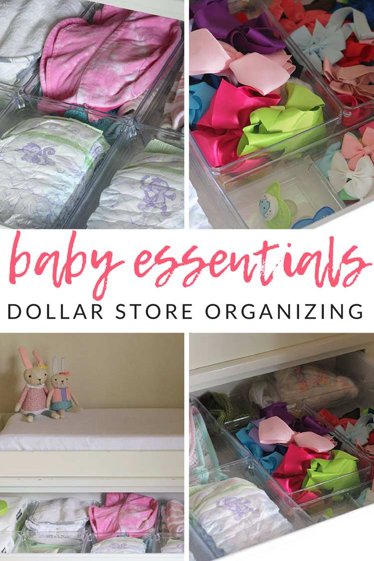 Nursery Dresser Organization With The Dollar Store - The Crazy Craft Lady