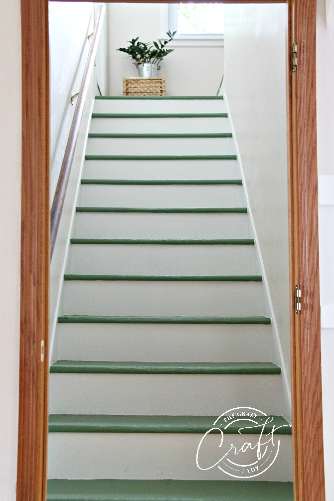 Magnolia Green by Joanna Gaines Paint - DIY Painted Stairs