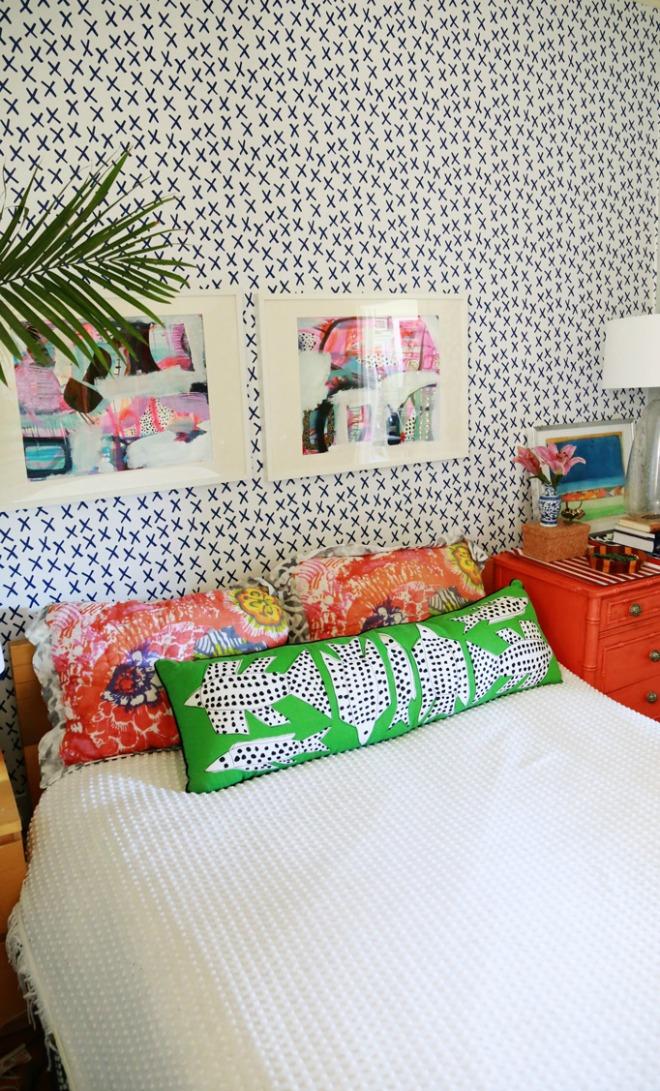 Bedroom Wallpaper Ideas - modern eclectic bedroom design
