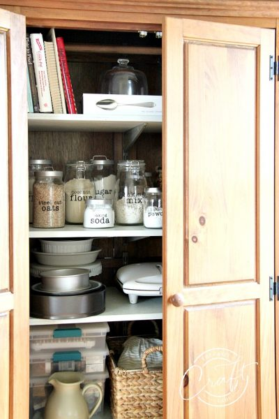 Organized Baking Storage Cabinet