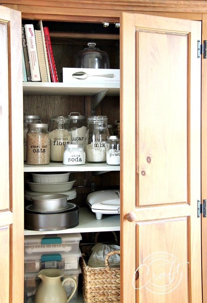Organized Baking Storage Cabinet