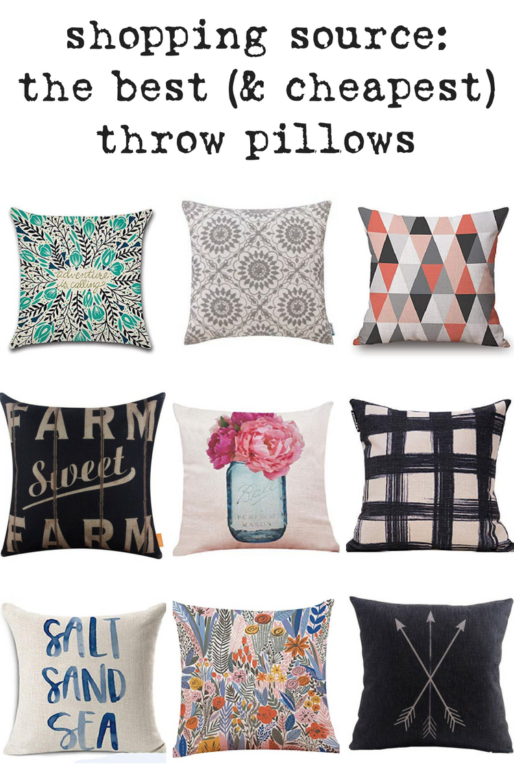 "Shop my ""Secret Source"" for Insanely Inexpensive 18x18 Pillow Covers. Where to find the BEST throw pillow covers without breaking the bank."