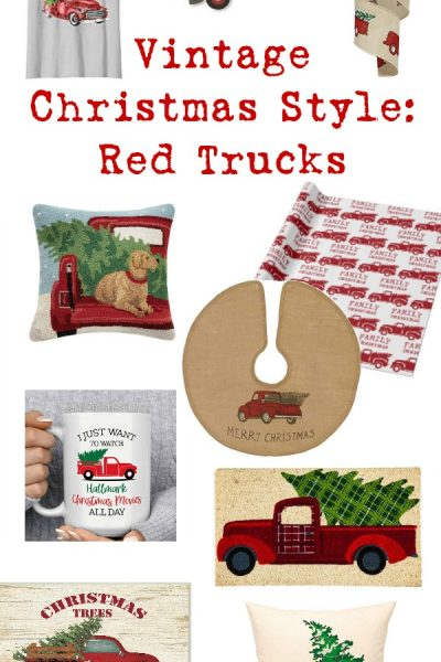 Keep things classic this holiday with these vintage-style decor finds with one theme: A Red Truck with Christmas Tree. These are my favorite traditional (and a bit quirky) Christmas finds!