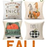budget friendly fall pillow covers