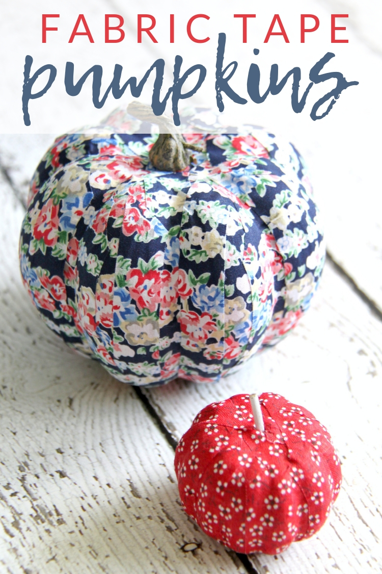 Fabric tape mini pumpkins are a simple fall craft that crafters of all ages can enjoy. Decorate pumpkins in any color or pattern using just tape.