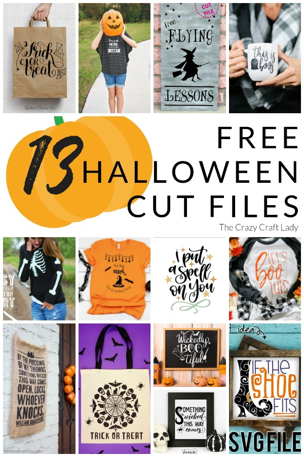 Whip out your Cricut and make one of thes Halloween DIY projects using a FREE svg file.