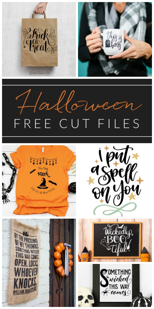 Form scary and spooky, to cute and whimsical, get your craft on and make a Cricut Halloween project using one of these FREE Halloween cut files!
