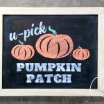 Download this FREE Pumpkin Patch stencil cut file to make pretty fall chalkboard art with chalk markers.