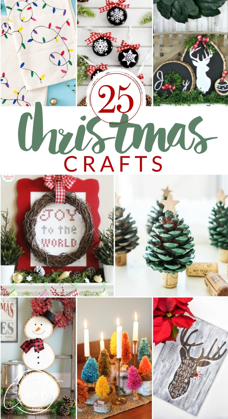 Looking for some simple Christmas crafts and holiday DIY decor projects for yourself? Here are 25 Christmas crafts and for adults that will put you in the holiday spirit!