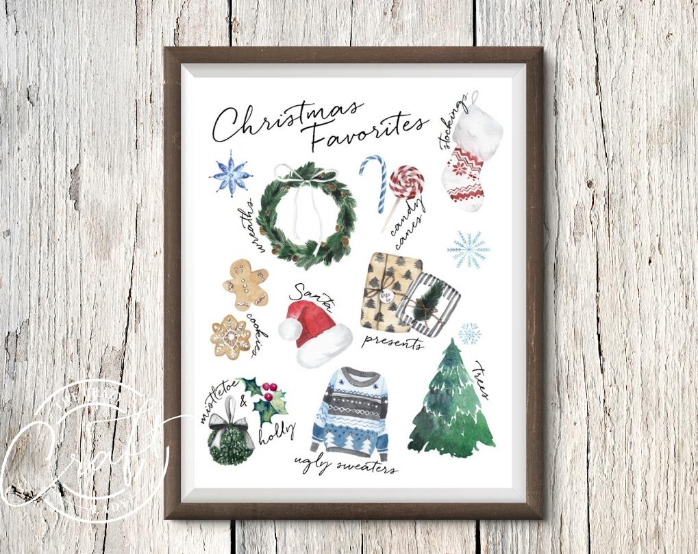 Christmas Favorites Printable