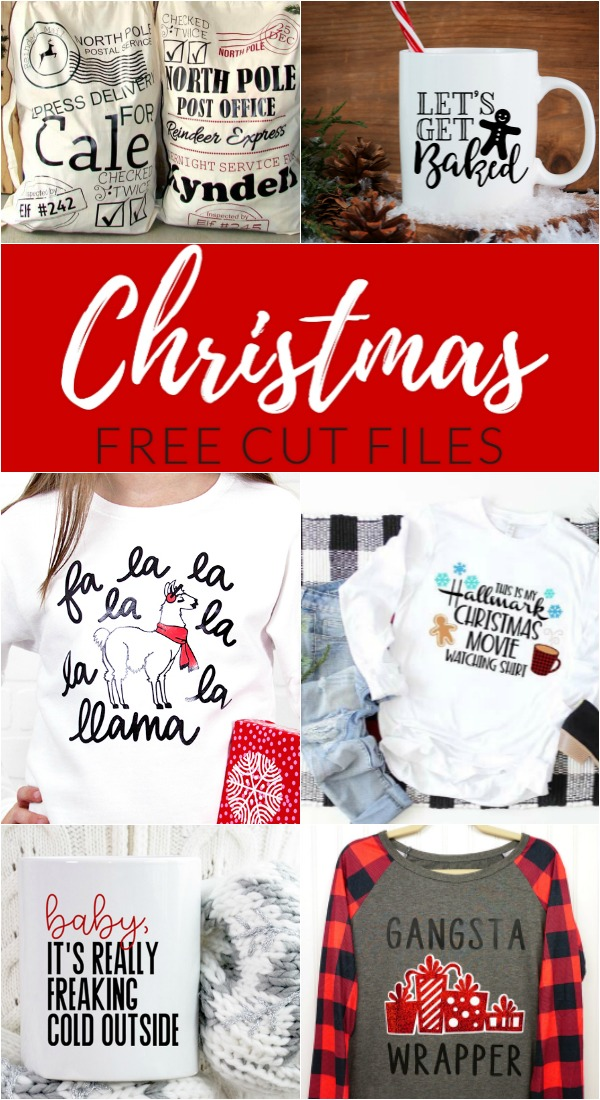 From holiday mugs and funny shirts, to cookie plates and home decor, get your craft on and make a Cricut Christmas project using one of these FREE Christmas cut files!