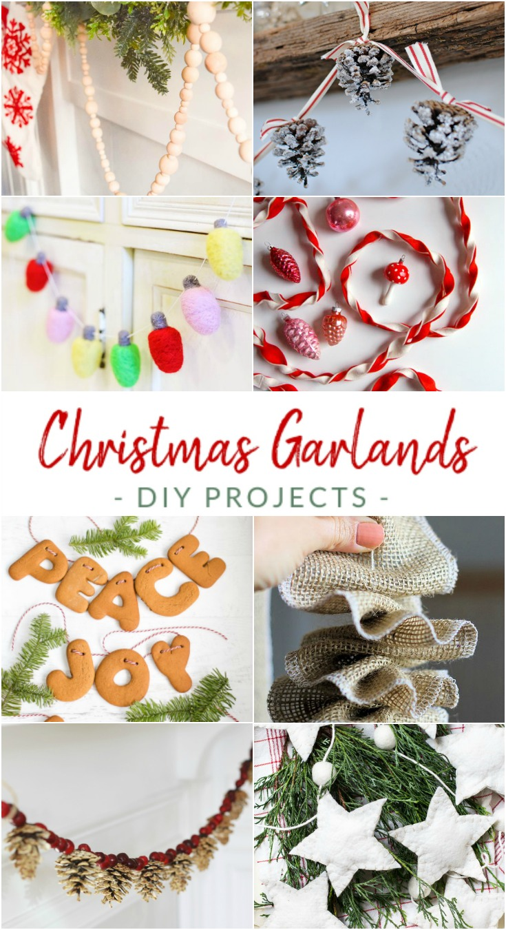 Forget the tinsel, and the ornaments, the tree skirt too. Today, It's all about the garland. I really do love a good garland craft project, no matter what time of year.