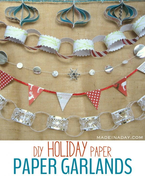 DIY Holiday Paper Garlands