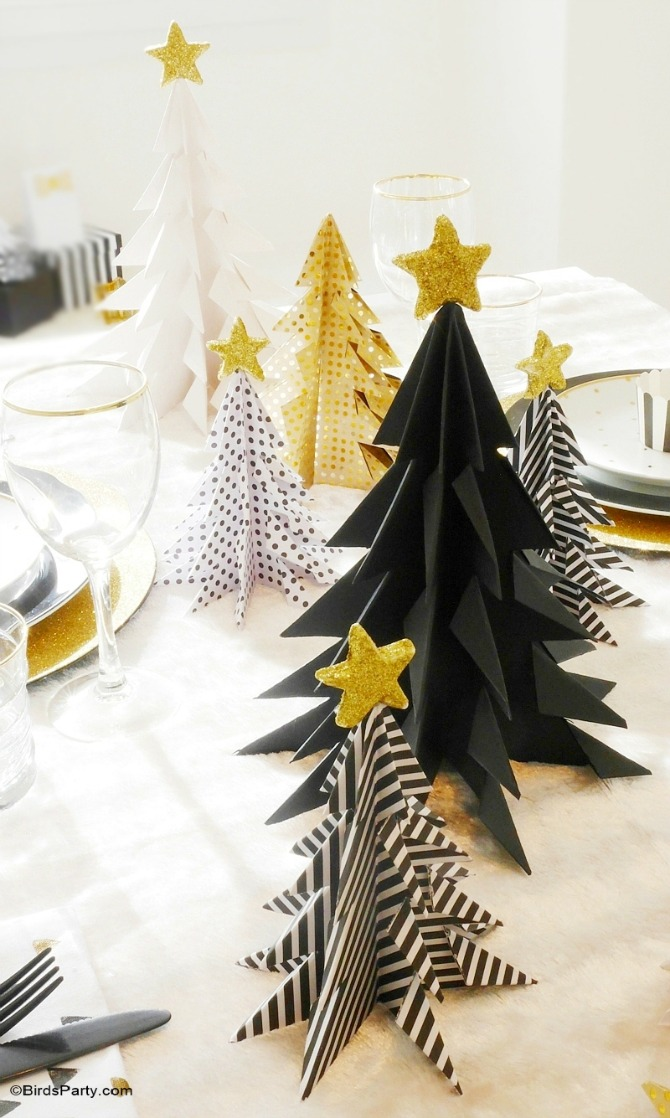 DIY Origami Christmas Trees - Paper Christmas Decorations