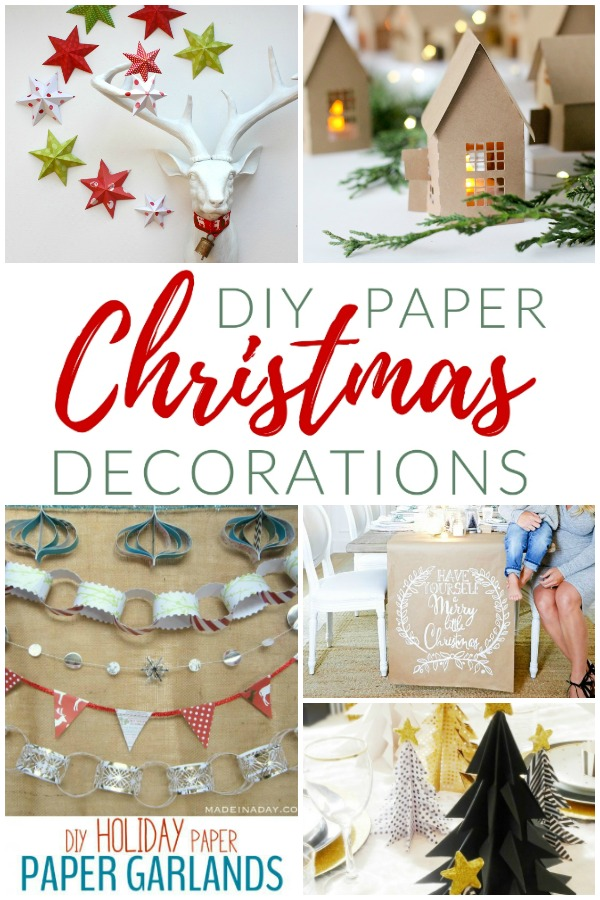Christmas decorating has never been easier with this quick and easy DIY paper Christmas decorations. How to decorate for the holidays with paper.