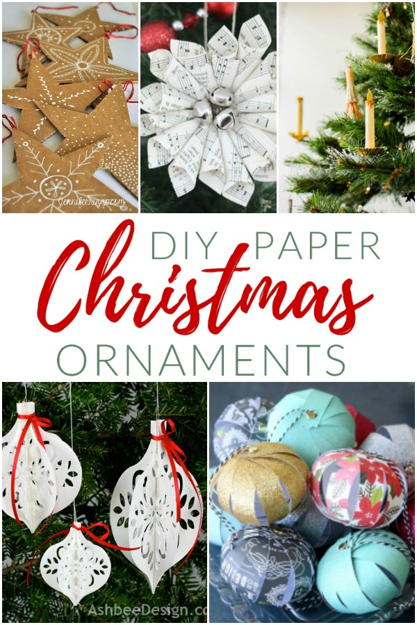 Trim your tree with these fun holiday paper crafts and paper Christmas ornaments. How to decorate for the holidays with paper.