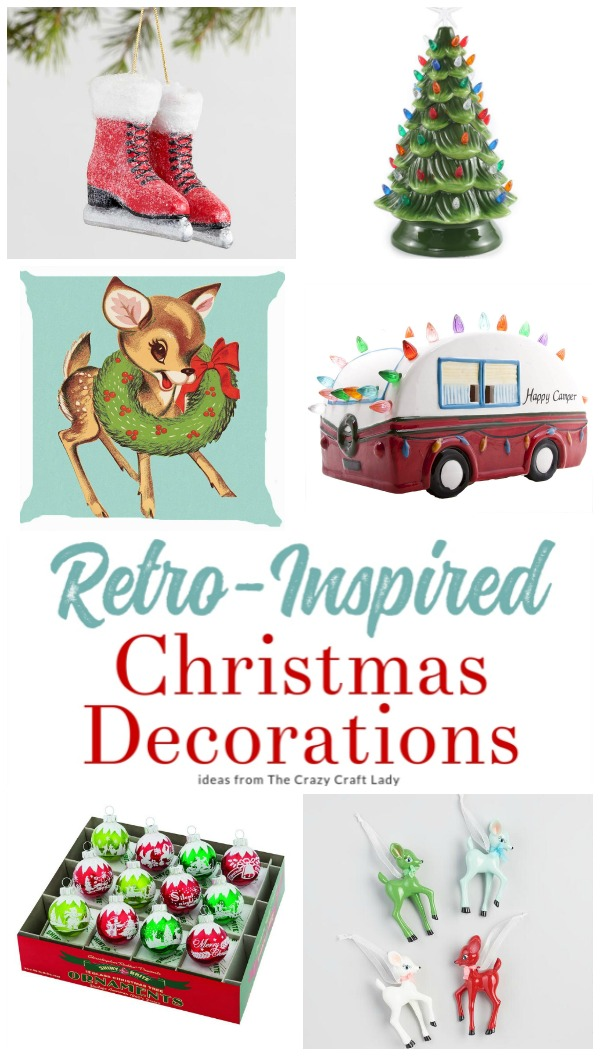 They may be reproductions, but these Retro Christmas Decorations are filled with nostalgic Christmas charm! Bring back holiday memories from years ago with these retro and vintage-inspired Christmas decorations and ornaments.