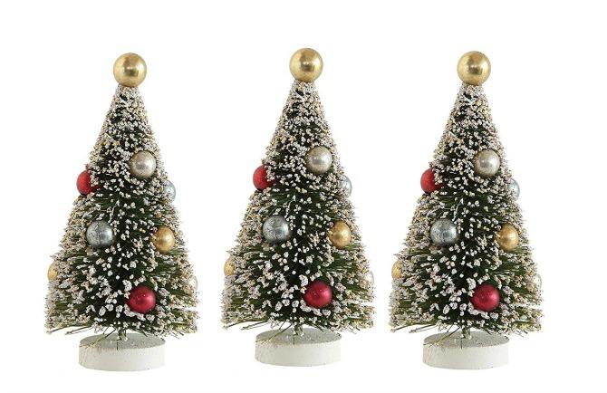 Whimsy Set of Three Bottle Brush Trees - Vintage Christmas Decorations