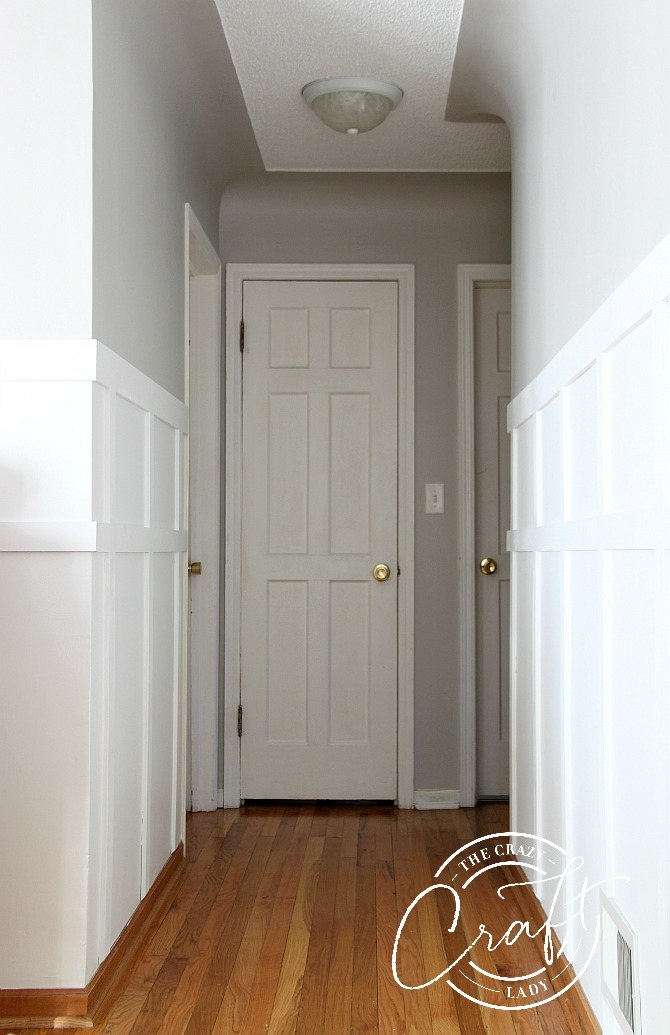 white board and batten hallway - everything you need to know before installing board and batten walls