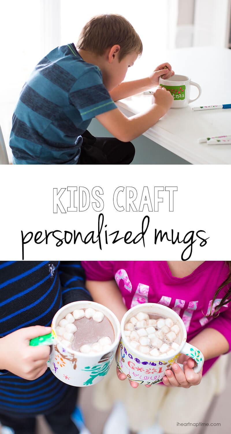 Sentimental Homemade Christmas Gifts from Kids - kids fingerprint ornaments - Kids-craft-personalized-mugs