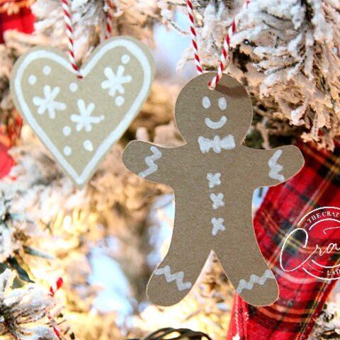 Paper Gingerbread Ornaments