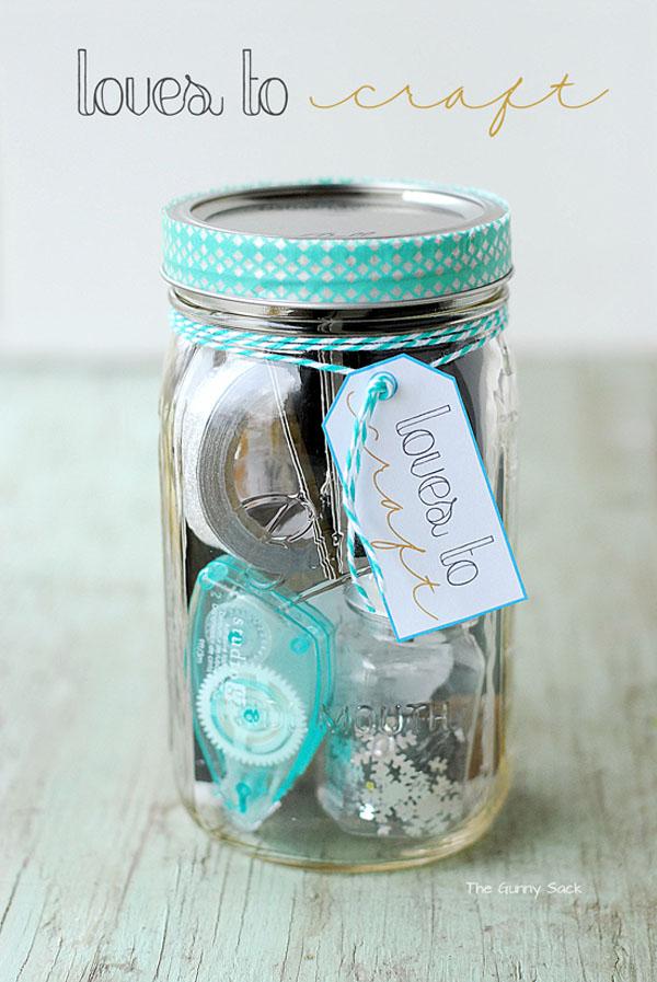 Loves To Craft Mason Jar Gift - Beautiful Mason Jar Christmas Gifts